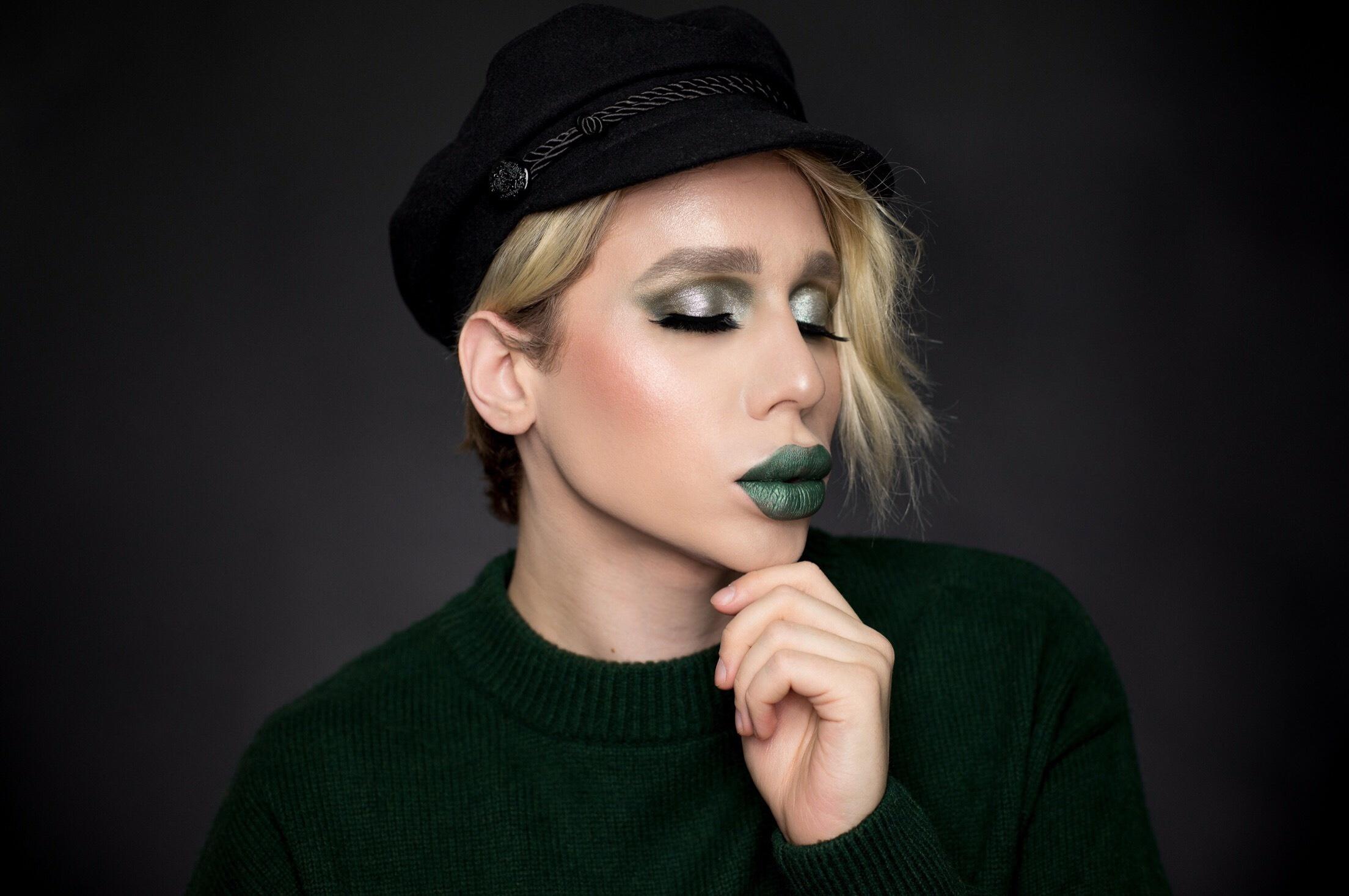 Jeffree Star Smashbox green makeup (5)