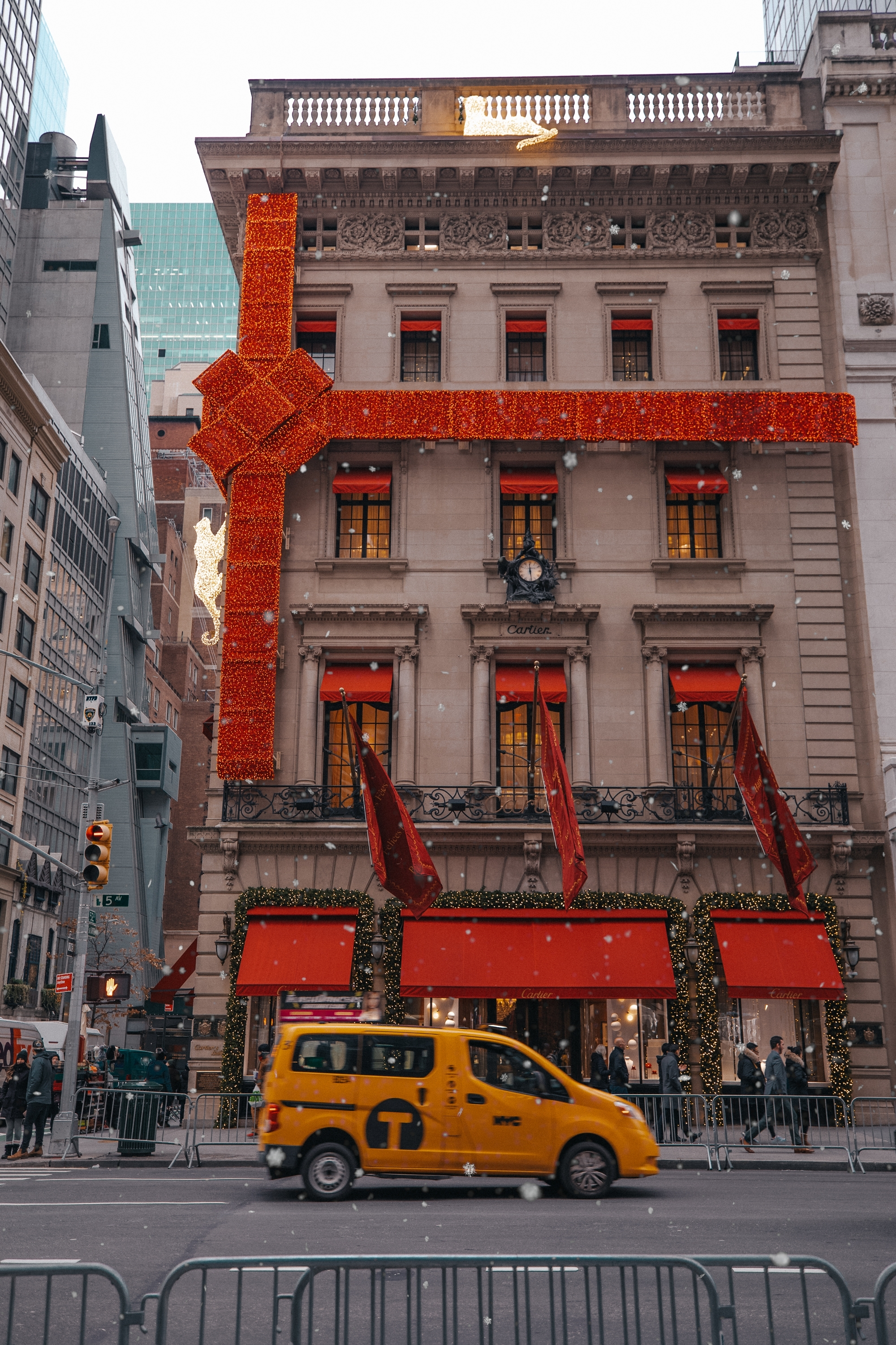 Cartier in New York, at Christmas